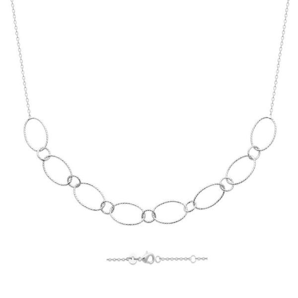 Collier gros maillons en argent